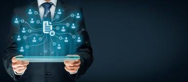 数据管理和保密性 免版税图库摄影