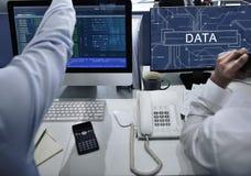 数据线路委员会技术未来派信息概念 免版税库存图片