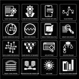 数据设置逻辑分析方法禁止图表,太阳火光,二进制编码装货,数据搜寻,分析过程,正弦波手机文本dat 库存照片