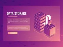 数据连接和传输等量概念,服务器室,数据库存取,数据总线3d 库存照片