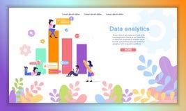 数据逻辑分析方法联机服务平的传染媒介网站 库存例证