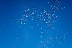 数百气球 免版税库存照片