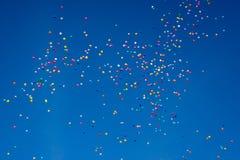 数百气球 免版税库存图片