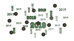 数的顶视图箭与某一目标的目标2019设计 库存照片