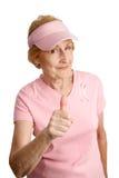 敲打乳房能癌症 免版税库存照片
