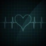 敲打心脏监护器 库存图片