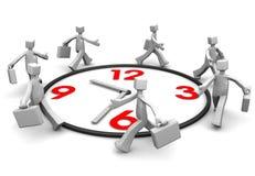 敲打生意人组运行时间 向量例证