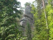 敲门人- Adršpach特普利采岩石 免版税库存图片