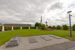 敲,马约角,爱尔兰 在Co马约角的爱尔兰` s全国玛丽亚寺庙,访问1 5每年百万人民 敲寺庙 图库摄影