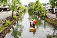 仓敷市,老日本镇在冈山 图库摄影