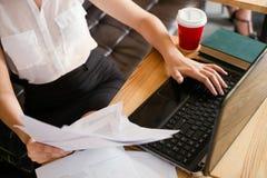 文书工作技术自由职业者的企业概念 图库摄影