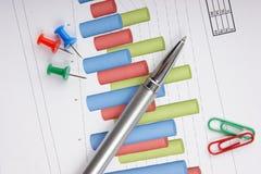文件图形表 免版税库存照片