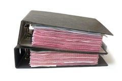文件堆 免版税库存图片