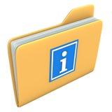 文件夹信息 免版税图库摄影