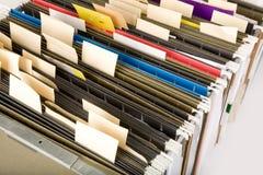 文件夹停止的标签 免版税库存照片