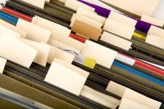 文件夹停止的标签 免版税库存图片