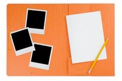 文件夹即时开放照片 免版税库存图片