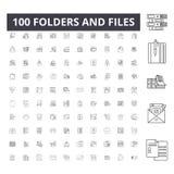文件夹和文件排行象,标志,传染媒介集合,概述例证概念 库存例证