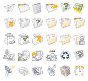 文件夹图标媒体 免版税库存图片