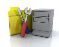 文件夹图标系统 免版税库存照片
