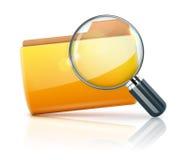 文件夹图标 向量例证