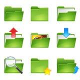 文件夹图标set1 免版税库存照片