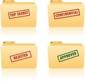 文件夹标签安排 免版税图库摄影