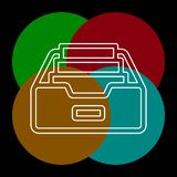 文件夹档案传染媒介象 向量例证