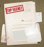 文件夹秘密顶层 免版税库存照片