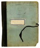 文件夹笔记本老概略的学校纹理 免版税库存照片