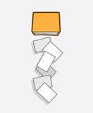 文件夹纸落 库存例证