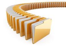 文件夹行 库存例证