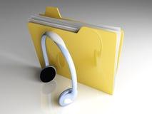 文件夹音乐 向量例证