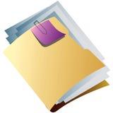 文件夹黄色 免版税库存照片