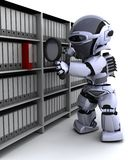 文件归档机器人 免版税库存图片