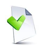 文件形状v 免版税库存照片