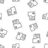 文件文件夹股份单无缝的样式背景 事务 免版税库存照片