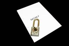 文件秘密 免版税图库摄影