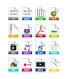 文件类型图标 库存图片