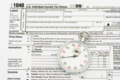 文件纳税您的时间 图库摄影
