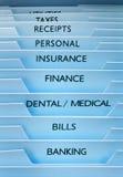 文件财务保险 图库摄影