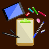 文具和办公用品 免版税图库摄影
