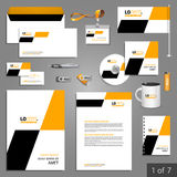 文具模板设计 免版税图库摄影