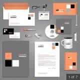 文具模板设计 免版税库存照片