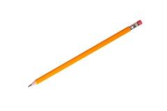 文具-新的石墨铅笔 查出 免版税库存照片