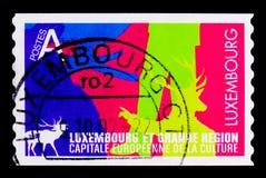 文化卢森堡2010年, serie的欧洲首都,大约2007年 免版税库存图片