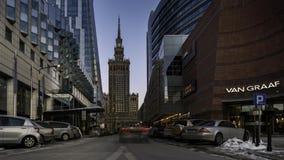文化和科学宫殿在华沙 股票视频