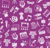 文化和艺术,无缝的样式,阴影,铅笔,紫色,传染媒介 库存照片