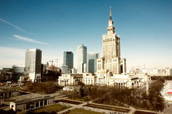 文化地标宫殿波兰科学华沙 库存图片