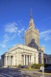 文化宫殿在华沙 图库摄影